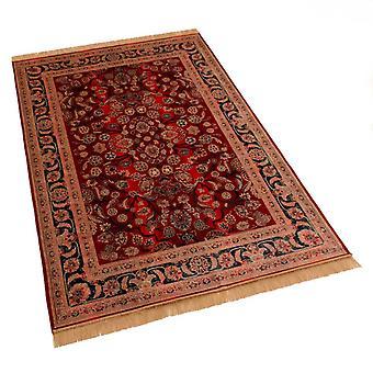 Red Afghan Ziegler Traditional Artsilk Faux Silk Effect Rugs 5663/12 140 x 200cm