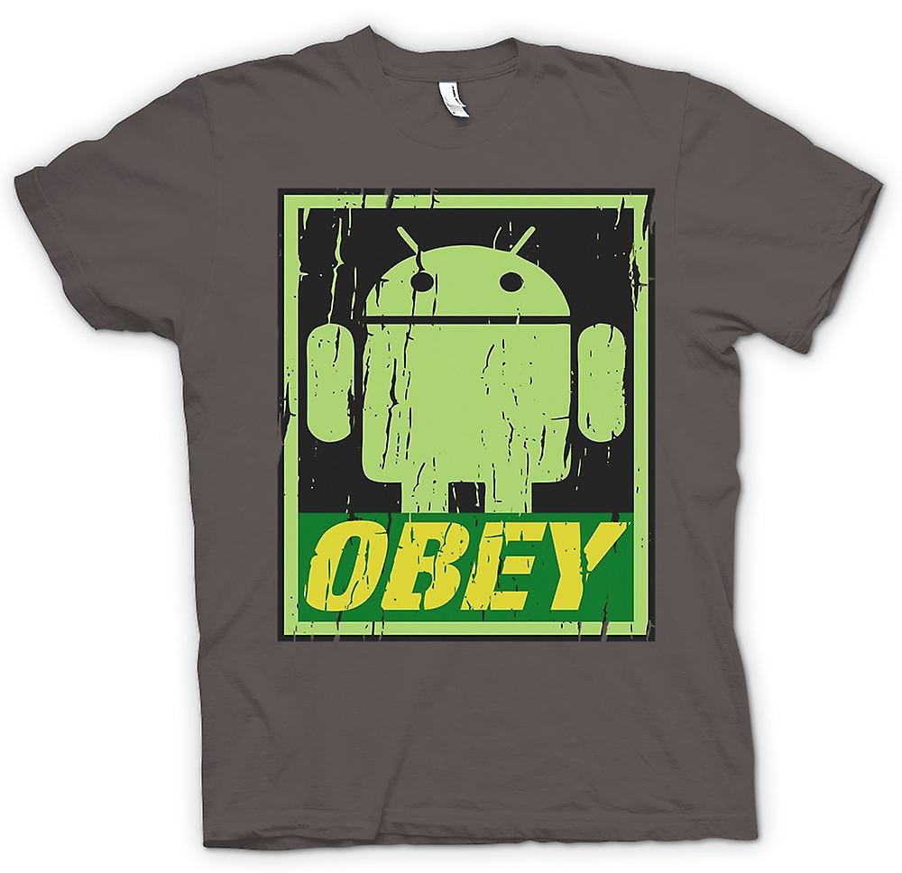 Womens T-shirt - Android Army - Obey - Cool Funny