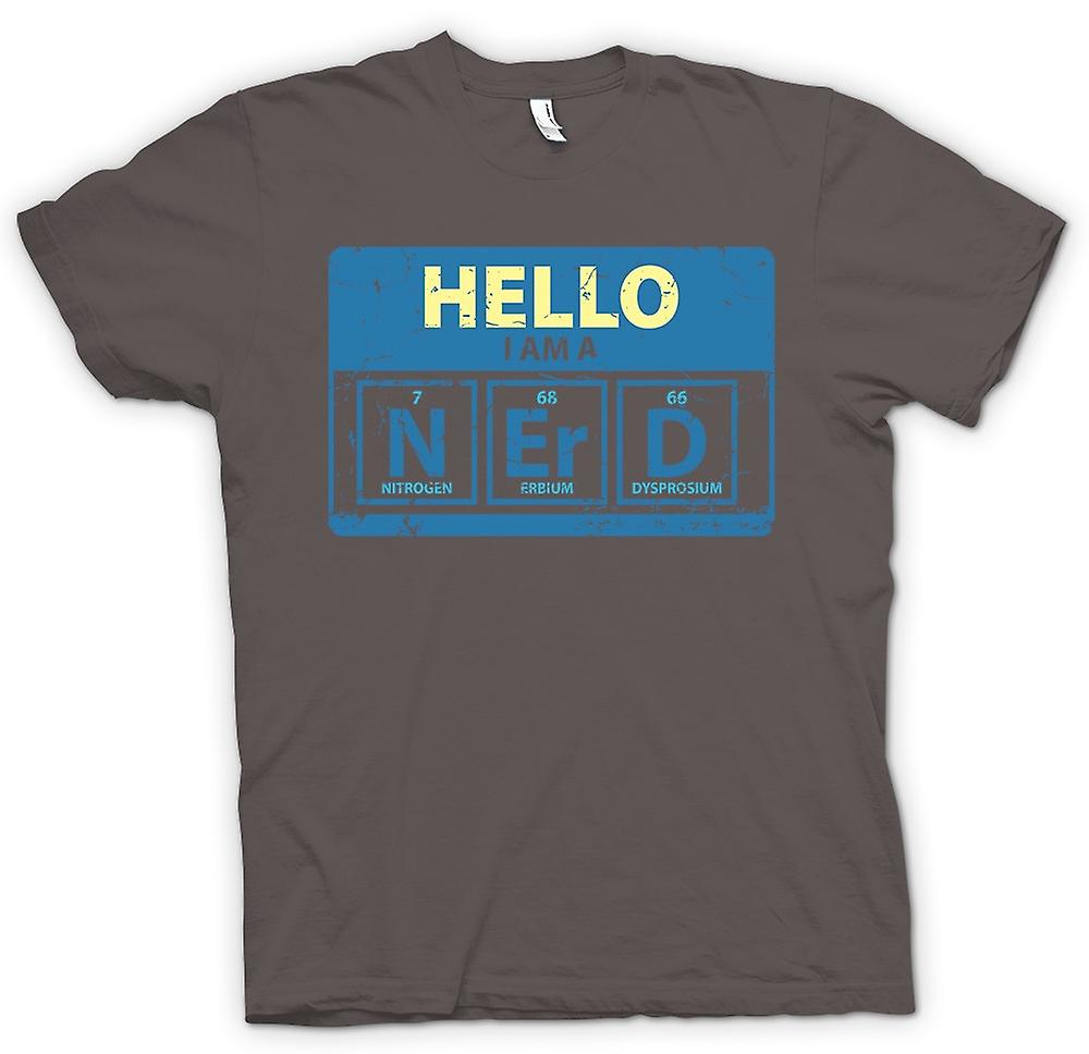 Womens T-shirt - Hello I Am A Nerd - Periodic Table
