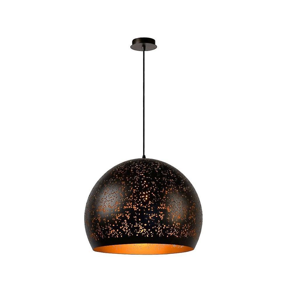 Lucide Eternal Modern Round Aluminum Rust marron Pendant Light