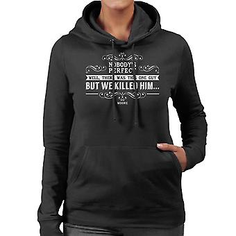 Lamb Nobodys Perfect Quote Women's Hooded Sweatshirt
