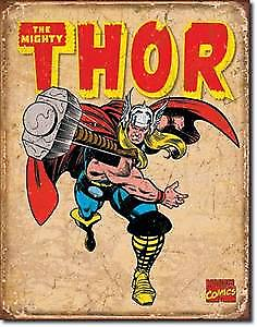Mighty Thor (throwing hammer) metal sign   (ga)