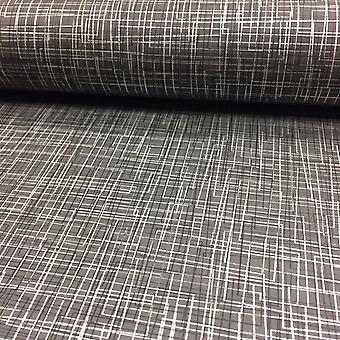 3D-Effect doolhof Matrix lijnen Wallpaper metalen luxe moderne cirkels Rasch grijs/zilver/zwart