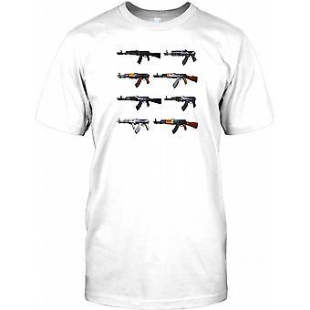AK-47 Arma Collage - armas de destrucción masiva para hombre camiseta