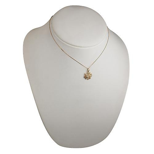 9ct Gold 17x16mm Spider on Webb Pendant with a Curb Chain 16 inches Only Suitable for Children