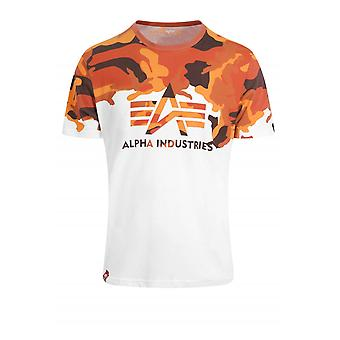 Alpha Industries förlorade Camo T-Shirt | Vit/Orange Camo