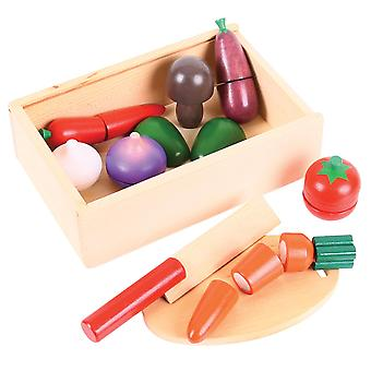 Bigjigs Toys Wooden Play Food Cutting Vegetables Pretend Play Kitchen
