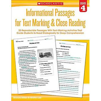 Informational Passages for Text Marking & Close Reading - Grade 4  - 20