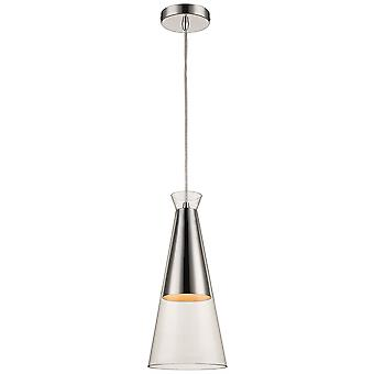 Spring Lighting - Canterbury Clear Glass Single Pendant  LFOU018DM1QFOE