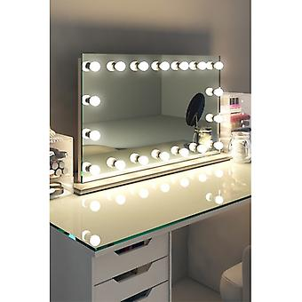 Diamond X Table Top Hollywood Audio Mirror & Dimmable LED k413sCWaud