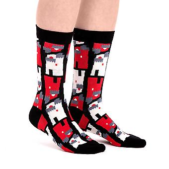Tower luxury combed cotton designer crew socks in black| By Ballonet