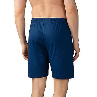 Mey men 20750-664 heren Lounge Neptune blauw katoen pyjama pyjama's short