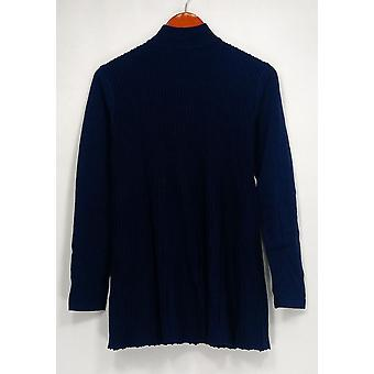 Joan Rivers Classics Collection Top S Mock Pleated Swing Navy Blue A298208