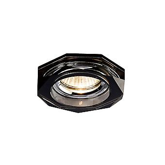 Diyas Crystal Downlight Deep Hexagonal Rim Only Black, IL30800 Required To Complete The Item