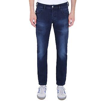 Diesel D-Bazer Tapered Fit Dark Blue Denim Jeans