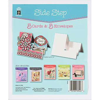 Hot Off The Press Die-Cut Cards W/Envelopes 5/Pkg-Side Step 34-26