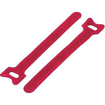 Hook-and-loop cable tie for bundling Hook and loop pad (L x W) 180 mm x 12 mm Red KSS MGT-180RD 1 pc(s)