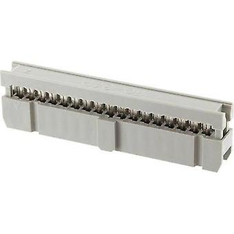 Socket strip Contact spacing: 2.54 mm Total number of pins: 6 e