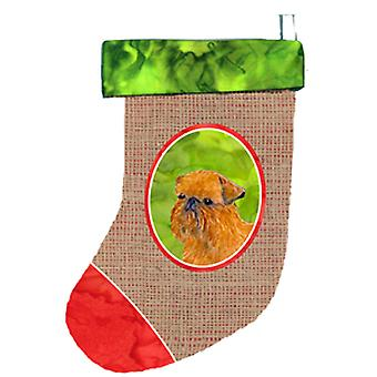 Carolines Treasures  SS2015-CS Brussels Griffon Christmas Stocking SS2015