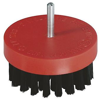 Wolfcraft Polishing brush with soft bristles ø 80 mm, 6 mm round rod
