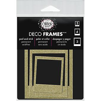 Glitter Dust Frame Assortment 10/Pkg-Polaroid Gold DFRM-0801