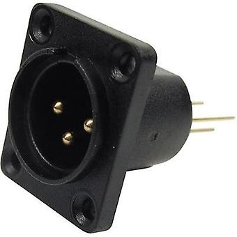XLR connector Sleeve socket, straight pins Number of pins: 3 Black Cliff CP30071 1 pc(s)