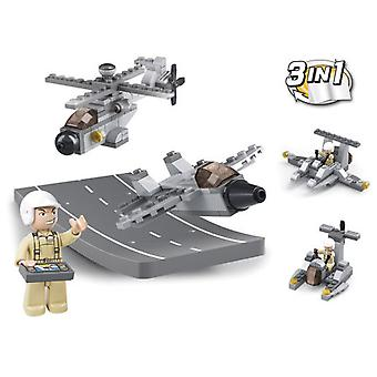 Sluban Army 3 In 1 Track With Vehicle Parts 104