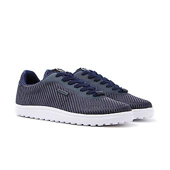 Cruyff Asteroid Bright Navy Woven Trainers