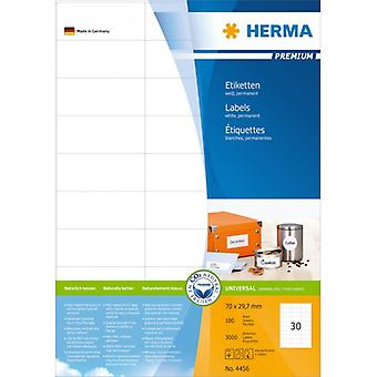 Labels white 70x29 .7 Herma Premium A4 3000 pcs.