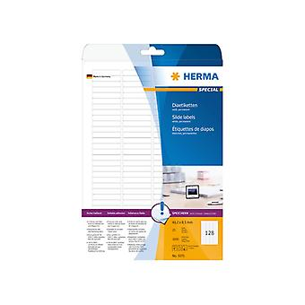 Slide labels white 43, 2 x 8, 5 Herma A4 3200 pcs.