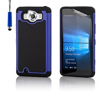 Shock proof case + penna för Microsoft Lumia 950 - Deep Blue