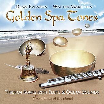 Evenson/Makichen - Golden Spa toner: Tibetanske skåle med fløjte & Ocean [CD] USA import