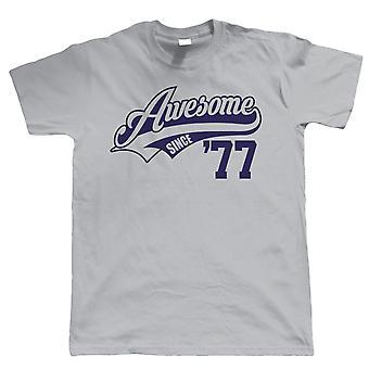 Seit 1977 genial Mens lustige T Shirt, Geschenk zum 40. Geburtstag