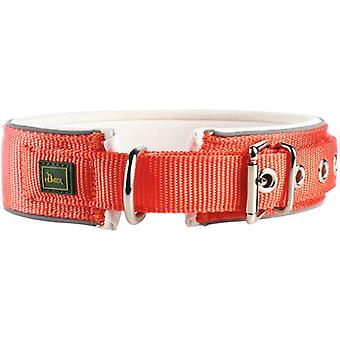 Hunter Collar Neopren Reflect Orange and Cream