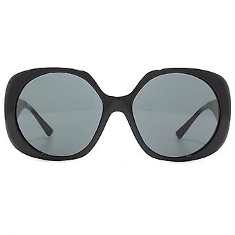 Versace Medusa Temple Oversize Sunglasses In Black