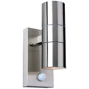 Firstlight Modern Stainless Steel Bathroom Sensor Down Wall Light