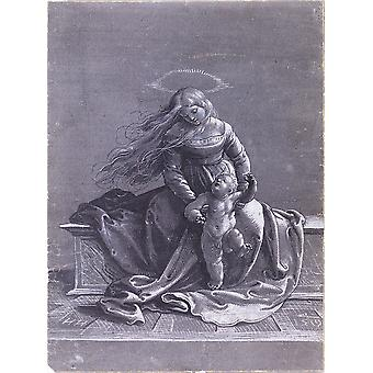Hans The Younger - Seated Virgin and Child Poster Print Giclee