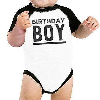 Baby Boy Baseball Bodysuit Black Cute Baby Birthday Gift T-Shirt Idea
