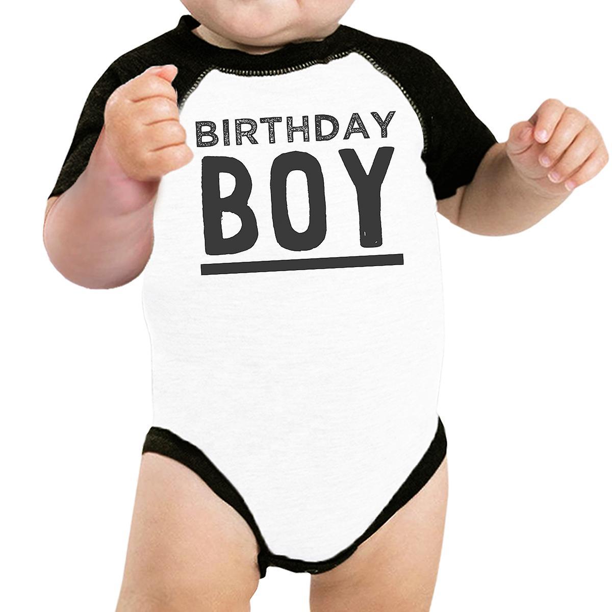 Baby Boy Baseball Onesie Black Cute Baby Birthday Gift T-Shirt Idea