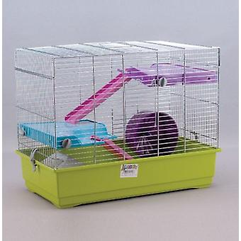 Mgz Alamber Hamster Cage Chrome 50 (2 Flats - 50X28X39 Cm) (Small pets , Cages and Parks)