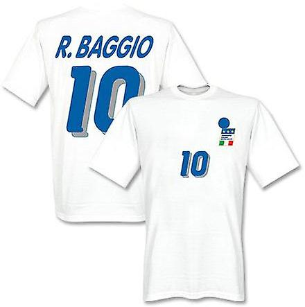 Roberto Baggio Italy 1994 Away T-Shirt (White)