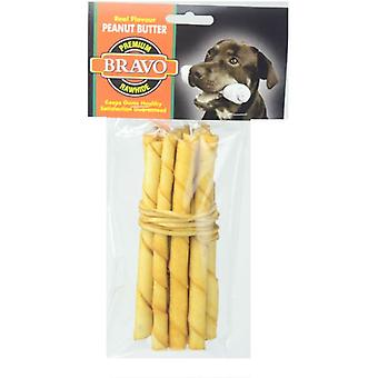 Bravo Peanut Butter Twist Palito 5 'Pack 10 units (Dogs , Treats , Bones)