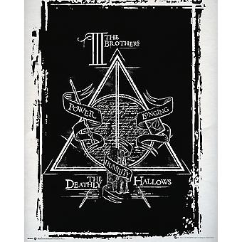 Harry Potter Deathly Hallows grafische Mini Poster