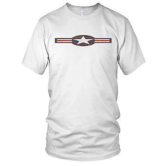 USAF Roundel Grunge Effect Ladies T Shirt