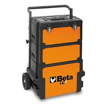 Beta C42 H Three-Module Tool Trolley