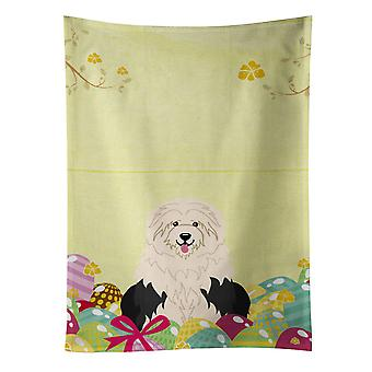 Carolines Treasures  BB6096KTWL Easter Eggs Old English Sheepdog Kitchen Towel