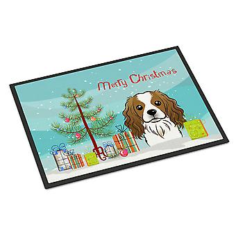 Christmas Tree and Cavalier Spaniel Indoor or Outdoor Mat 18x27