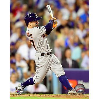 Jose Altuve Home Run spel 2 van de 2017 World Series foto afdruk