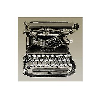 A máquina de escrever vintage Corona Poster Print by Fausto Clifford (8 X 11)