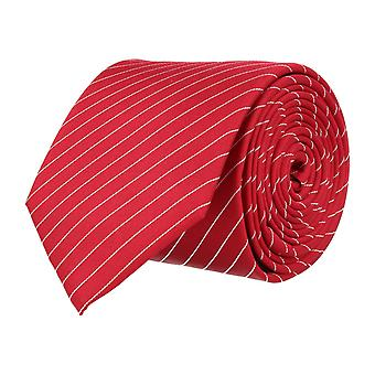 OTTO KERN narrow tie silk tie red striped